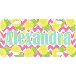 Pineapples Mini / Bicycle License Plate (Personalized)