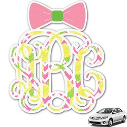 Pineapples Monogram Car Decal (Personalized)