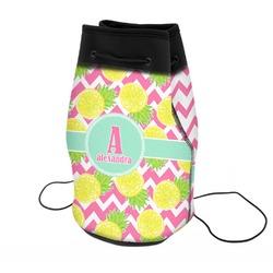 Pineapples Neoprene Drawstring Backpack (Personalized)