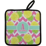 Pineapples Pot Holder w/ Name and Initial
