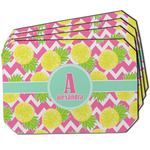 Pineapples Dining Table Mat - Octagon w/ Name and Initial