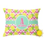 Pineapples Outdoor Throw Pillow (Rectangular) (Personalized)