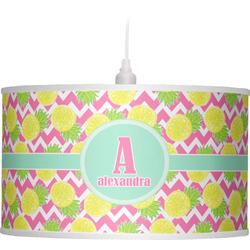 Pineapples Drum Pendant Lamp (Personalized)