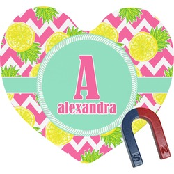 Pineapples Heart Fridge Magnet (Personalized)