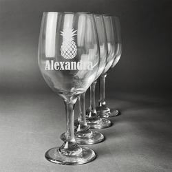 Pineapples Wineglasses (Set of 4) (Personalized)