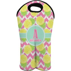 Pineapples Wine Tote Bag (2 Bottles) (Personalized)