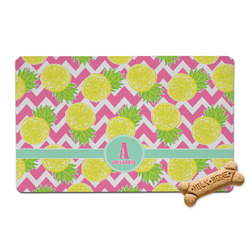 Pineapples Pet Bowl Mat (Personalized)