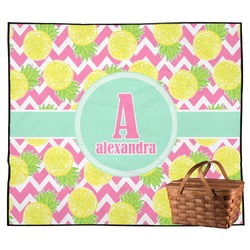 Pineapples Outdoor Picnic Blanket (Personalized)