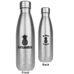 Pineapples RTIC Bottle - Silver - Engraved Front & Back (Personalized)