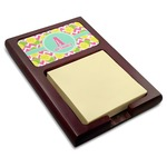 Pineapples Red Mahogany Sticky Note Holder (Personalized)