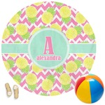 Pineapples Round Beach Towel (Personalized)