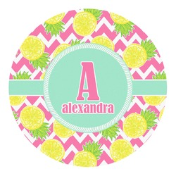 Pineapples Round Decal (Personalized)