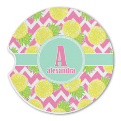 Pineapples Sandstone Car Coasters (Personalized)