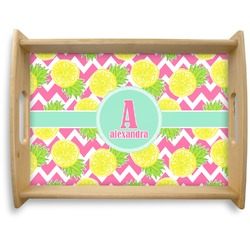 Pineapples Natural Wooden Tray - Large (Personalized)