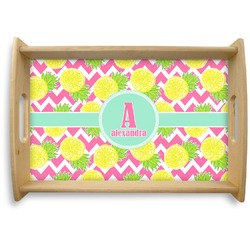 Pineapples Natural Wooden Tray (Personalized)