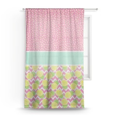 "Pineapples Sheer Curtain - 50""x84"" (Personalized)"
