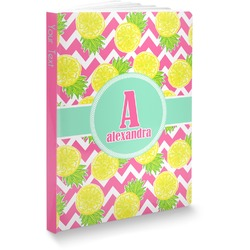 "Pineapples Softbound Notebook - 5.75"" x 8"" (Personalized)"