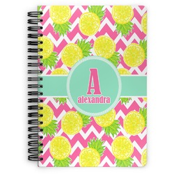 Pineapples Spiral Bound Notebook - 7x10 (Personalized)