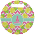 Pineapples Stadium Cushion (Round) (Personalized)