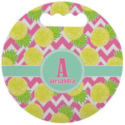 Pineapples Stadium Cushion (Round) (Personalized)