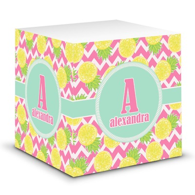 Pineapples Sticky Note Cube (Personalized)