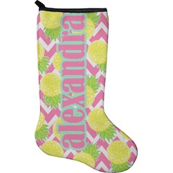Pineapples Holiday Stocking - Neoprene (Personalized)