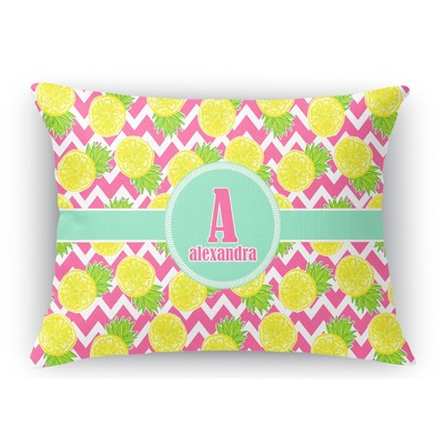 Pineapples Rectangular Throw Pillow Case (Personalized)