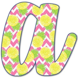 Pineapples Letter Decal - Large (Personalized)