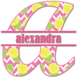 Pineapples Name & Initial Decal - Custom Sized (Personalized)