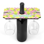 Pineapples Wine Bottle & Glass Holder (Personalized)