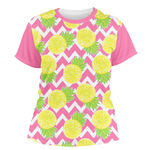 Pineapples Women's Crew T-Shirt (Personalized)