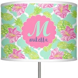 "Preppy Hibiscus 13"" Drum Lamp Shade (Personalized)"
