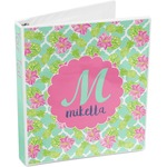 Preppy Hibiscus 3-Ring Binder (Personalized)