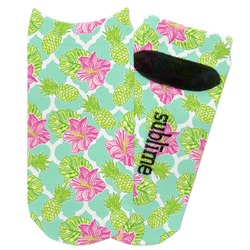Preppy Hibiscus Adult Ankle Socks (Personalized)
