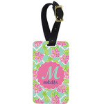 Preppy Hibiscus Aluminum Luggage Tag (Personalized)