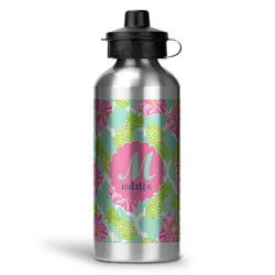 Preppy Hibiscus Water Bottle - Aluminum - 20 oz (Personalized)