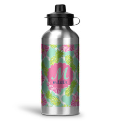 Preppy Hibiscus Water Bottle - Aluminum - 20 oz (Personalized)