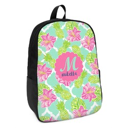 Preppy Hibiscus Kids Backpack (Personalized)