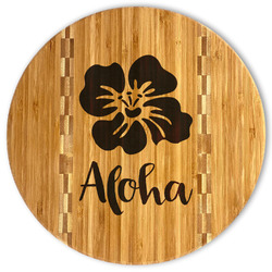 Preppy Hibiscus Bamboo Cutting Board (Personalized)