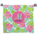 Preppy Hibiscus Bath Towel (Personalized)