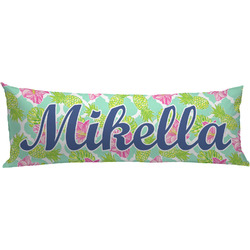 Preppy Hibiscus Body Pillow Case (Personalized)