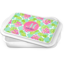 Preppy Hibiscus Cake Pan (Personalized)