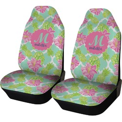 Preppy Hibiscus Car Seat Covers (Set of Two) (Personalized)