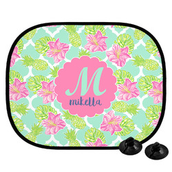 Preppy Hibiscus Car Side Window Sun Shade (Personalized)