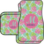 Preppy Hibiscus Car Floor Mats (Personalized)