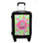 Preppy Hibiscus Carry On Hard Shell Suitcase (Personalized)