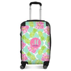 Preppy Hibiscus Suitcase (Personalized)