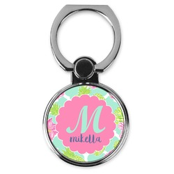 Preppy Hibiscus Cell Phone Ring Stand & Holder (Personalized)