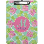 Preppy Hibiscus Clipboard (Personalized)