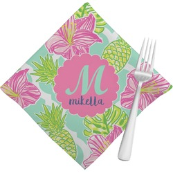 Preppy Hibiscus Napkins (Set of 4) (Personalized)